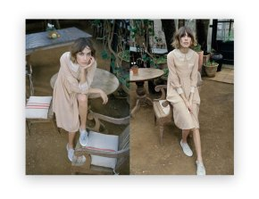 Alexa Chung wears TBA S/S 2011  Moon Dress