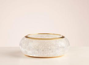 2.Bangle in smooth transparent resin and gold brass
