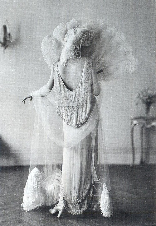 1922 Irene Castle models French designer Vionnet