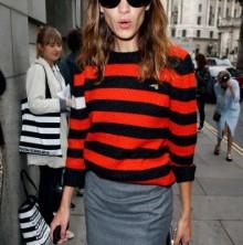 Alexa Chung Bella Freud Denni thd Menis sweater